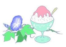 フリーイラスト 「朝顔・あさがお・かき氷・夏の風物詩・涼感」:フリーで使えるイラスト素材集:So-netブログ