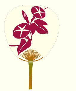 うちわ(団扇)のイラスト:無料画像の素材屋花子