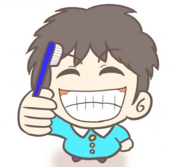 笑顔で歯磨き!男の子(幼稚園児)のフリーイラスト | ぴぴ