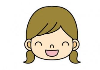 笑顔のイラスト女の子