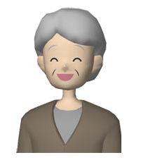 人物 笑顔のおばあちゃん/フリーイラスト素材