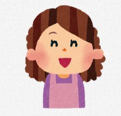 お母さんのイラスト「笑った顔・怒った顔・笑顔」