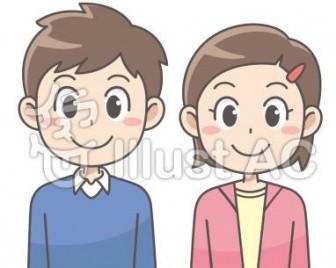 笑顔の小学生の男子と女子イラスト/無料イラストなら「イラストAC」