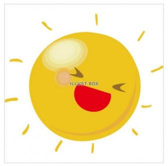 無料イラスト 天気シリーズ 太陽の笑顔