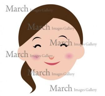 女性の顔(ママの笑顔)のイラスト素材|クリップアートとベクター画像のMarch Images Gallery