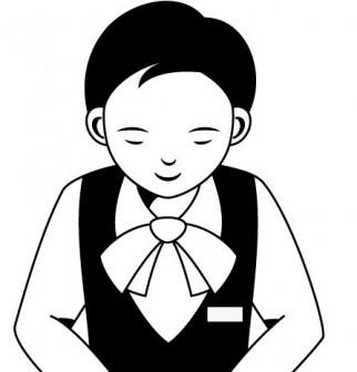 物販01-お辞儀 -仕事の無料イラスト素材-イラストポップ