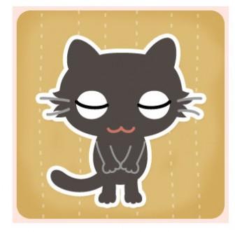黒猫おじぎ | このまち - 無料のイラスト・アイコン素材