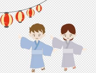 お祭り 盆踊りのイラスト 無料素材 夏季節