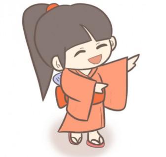 試作版!盆踊りを踊る女の子のイラスト | ぴぴ