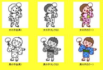 盆踊り1/夏の季節・行事/無料イラスト/保育のイラスト素材