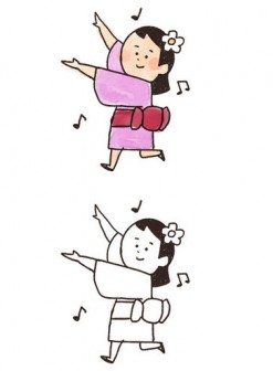盆踊りのイラスト: ゆるかわいい無料イラスト素材集
