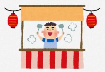 お祭りのイラスト「屋台」: 無料イラスト かわいいフリー素材集