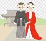 和風/結婚式/神社|illustration