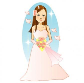 結婚、花嫁、ブライド、ドレス、ウェディングドレスのイラスト素材 無料・フリー版有り | 素材の恵み