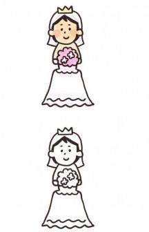 新婦のイラスト(結婚式): ゆるかわいい無料イラスト素材集