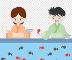 お祭り/夜店/金魚すくい|illustration