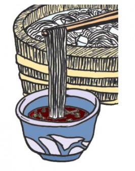 素麺(そうめん)のイラスト:手書きPOPやイラストの無料素材:So-netブログ