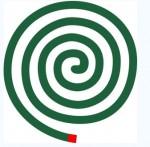 蚊取り線香のイラスト: Eー刺繍工房 データー倉庫