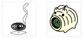 ワード・エクセル・パワーポイントで使える蚊取り線香のイラスト