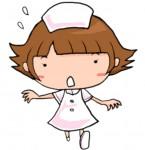 無料イラスト素材(かわいい系・商用利用可)|ナースコールにあわてて駆けつける看護師の女性