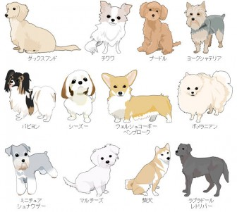 FigaroHouseオリジナル 犬イラストWebフリー素材配布コーナー : FigaroHouse