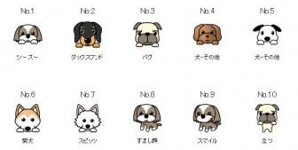素材一覧1 - 犬のイラスト集