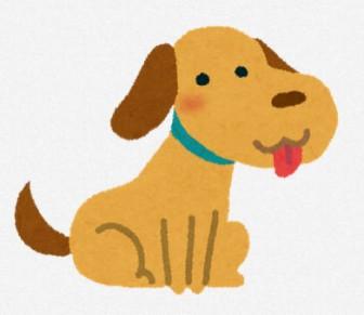 犬のイラスト「お座り」: 無料イラスト かわいいフリー素材集