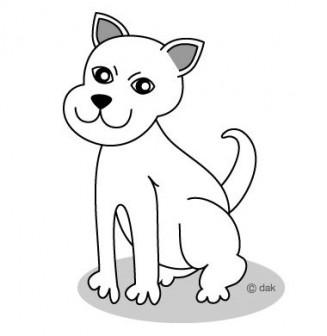 白イヌのイラスト素材|イラストイメージ (ii)