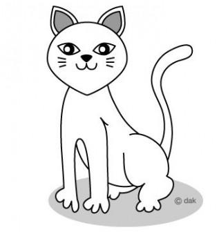 白ネコのイラスト素材|イラストイメージ (ii)
