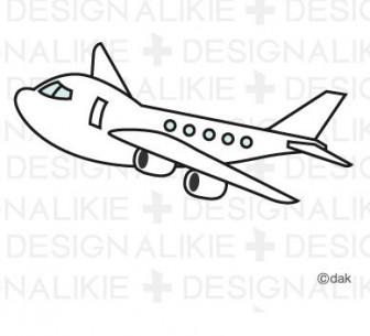 かわいい飛行機のイラスト素材 イラストイメージ (ii)