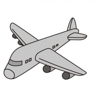 飛行機(モノクロ)