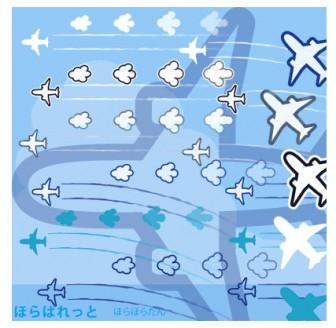 » 飛行機イラスト(シルエット) / 飛行機雲 と雲の矢印付き   可愛い無料イラスト素材集