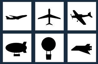 飛行機・ジェット機の無料アイコン素材一覧(シルエット・シンボル・マークにも)