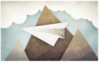 無料壁紙:紙飛行機をデザインした可愛いイラスト画像まとめ