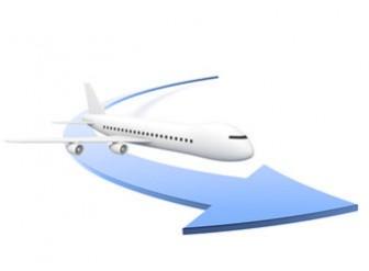 海外出張-飛行機の無料イラスト素材
