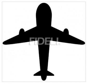 飛行機のシルエットのイラスト10のダウンロード フィデリ・ビジネス文書集
