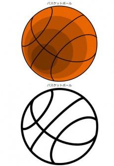 バスケットボールのイラスト|イラストカット