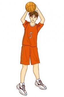 夏姫のイラストギャラリー/バスケットボール選手のイラスト