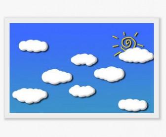 雲と太陽のイラスト - 画像素材-g-sozai.com