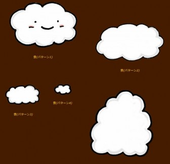 雲のイラスト素材 | イラスト素材:パンコス