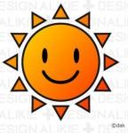 かわいい太陽のイラスト素材|イラストイメージ (ii)