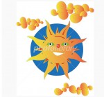 CG イラスト 太陽 - 写真素材 フォトライブラリー