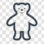 白くまのイラストアイコン素材   商用可の無料(フリー)のアイコン素材をダウンロードできるサイト『icon rainbow』