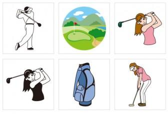 ゴルフ | 無料イラスト・パワーポイント形式テンプレート【素材工場】