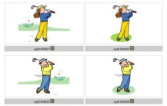 スポーツ−ゴルフ・ゲートボール【イラスト素材】 MMGクリエイティブネット