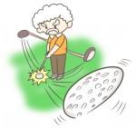 ゴルフをするおじいさんのイラスト!しかもナイスショット! | ぴぴ