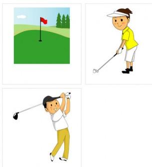 ゴルフのイラスト素材 無料、フリー版有り | イラスト素材の恵み