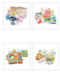 介護現場で使えるフリーイラスト集・郷土の秋祭り【MY介護の広場】
