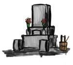 お墓参り墓地★お盆お彼岸墨絵 | 無料イラスト配布サイトマンガトップ