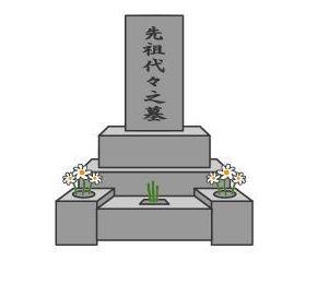 お墓のイラスト素材 | イラストレーターaiフリー素材